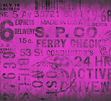Grungy Typo pink by artsandsoul