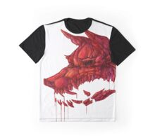 Blood Crystal Werewolf Skull - White BG Graphic T-Shirt