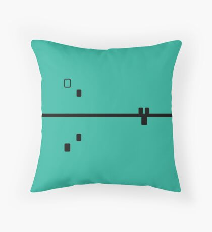 Block Confusion Emerald Throw Pillow