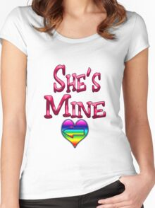 She's Mine (Arrow Pointing Left) Women's Fitted Scoop T-Shirt