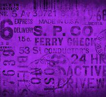 Grungy typo purple by artsandsoul