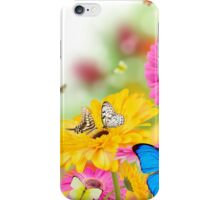 Bright Flowers and Butterflies iPhone Case/Skin