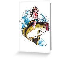 Britt Kicks Bass Greeting Card