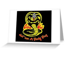 Cobra Kai Dojo - Black Greeting Card