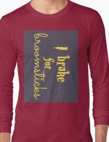Brake for Broomsticks - Harry Potter Quidditch Hufflepuff Long Sleeve T-Shirt