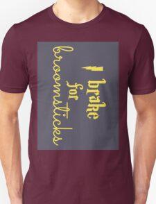 Brake for Broomsticks - Harry Potter Quidditch Hufflepuff Unisex T-Shirt