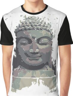 Cool Grey Buddha/Buddhist Graphic T-Shirt
