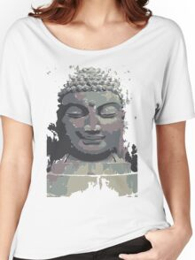 Cool Grey Buddha/Buddhist Women's Relaxed Fit T-Shirt