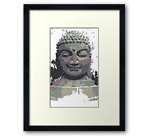 Cool Grey Buddha/Buddhist Framed Print