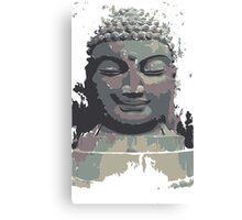 Cool Grey Buddha/Buddhist Canvas Print