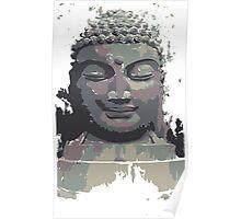 Cool Grey Buddha/Buddhist Poster