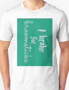 Brake for Broomsticks - Harry Potter Quidditch Slytherin T-Shirt