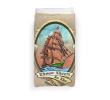 Three Sheets To The Wind (Sailing Ships and Beer) Duvet Cover