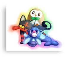 Pokemon Generation 7 Starters Canvas Print