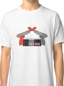 Crossed NES Zappers and Controller Classic T-Shirt