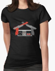Crossed NES Zappers and Controller Womens Fitted T-Shirt