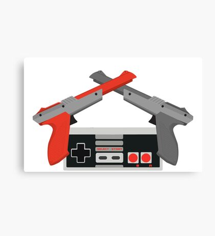 Crossed NES Zappers and Controller Canvas Print