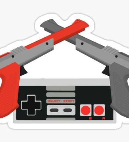 Crossed NES Zappers and Controller Sticker