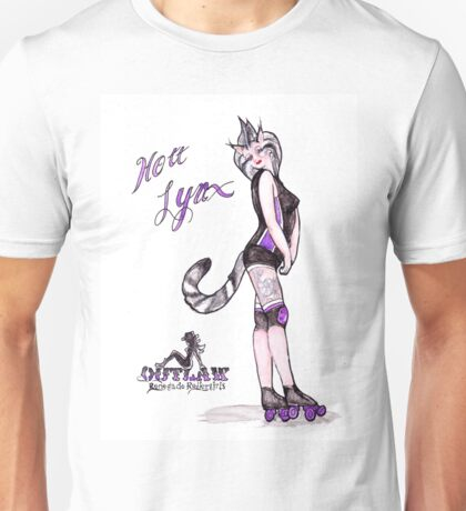 Hott Lynx from Outlaw Renegade Roller Girls Unisex T-Shirt
