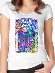 STAINED GLASS - he is Women's Fitted Scoop T-Shirt