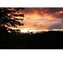 Oregon Sun Set Photographic Print