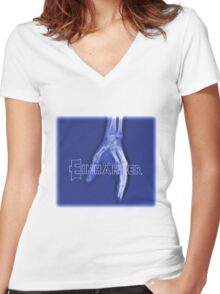 Einhander Women's Fitted V-Neck T-Shirt