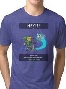 Hey, Listen! Tri-blend T-Shirt