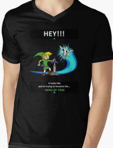 Hey, Listen! Mens V-Neck T-Shirt