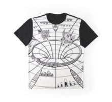 Down and out the wormhole- full size Graphic T-Shirt