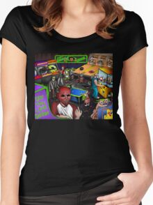 Post-Apocalyptic Arcade  Women's Fitted Scoop T-Shirt
