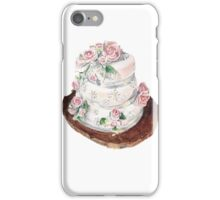 Wedding Cake watercolour painting by Paris Lomé iPhone Case/Skin