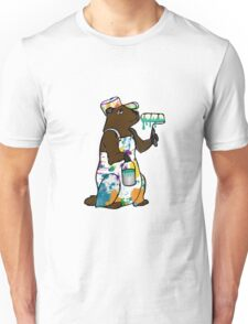 Painter Groundhog Unisex T-Shirt