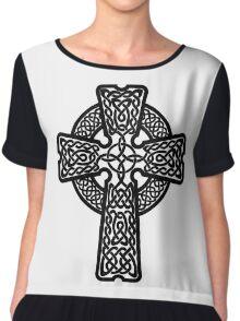Celtic Cross in black Chiffon Top