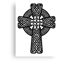 Celtic Cross in black Canvas Print