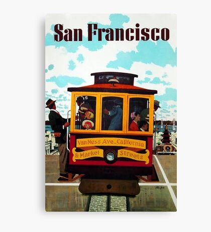 Vintage San Francisco Travel Poster - Stan Galli c 1957 Canvas Print