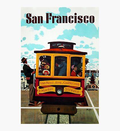 Vintage San Francisco Travel Poster - Stan Galli c 1957 Photographic Print