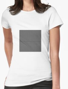 Black & White Gingham Womens Fitted T-Shirt