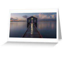 crawley boat shed Greeting Card