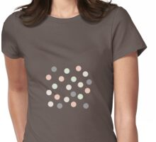Pastel and grey polka dots Womens Fitted T-Shirt