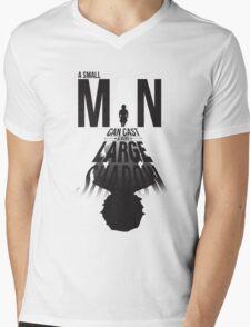 A Small Man's Shadow Mens V-Neck T-Shirt