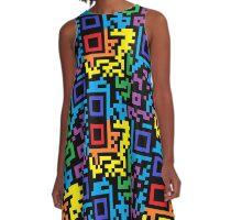 QR Code - Rainbow A-Line Dress