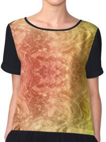 Psychedelic design.  Chiffon Top