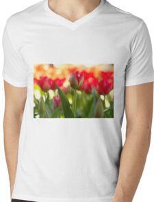 Garden of Tulips Mens V-Neck T-Shirt