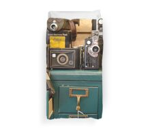 Retro Cameras Duvet Cover