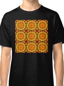 Golden Geometric Mandala Pattern 1 Classic T-Shirt