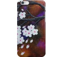 Abstract Tree White Cherry Blossoms iPhone Case/Skin