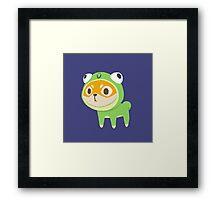 Shiba Frog Framed Print