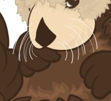 Adorable Baby Sea Otter Sticker