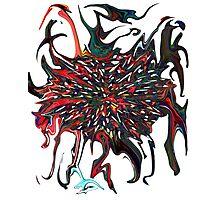 Exploding dark star based of event Horizon painting  Photographic Print