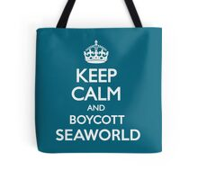KEEP CALM BOYCOTT SEAWORLD Tote Bag